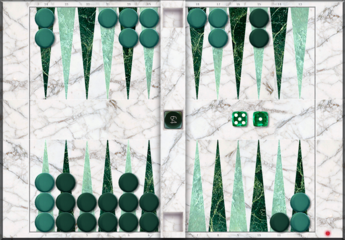 MARBLE-WhiteWithTwoGreens Theme
